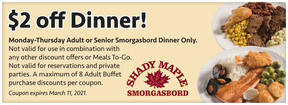 Dinner Coupon March2021