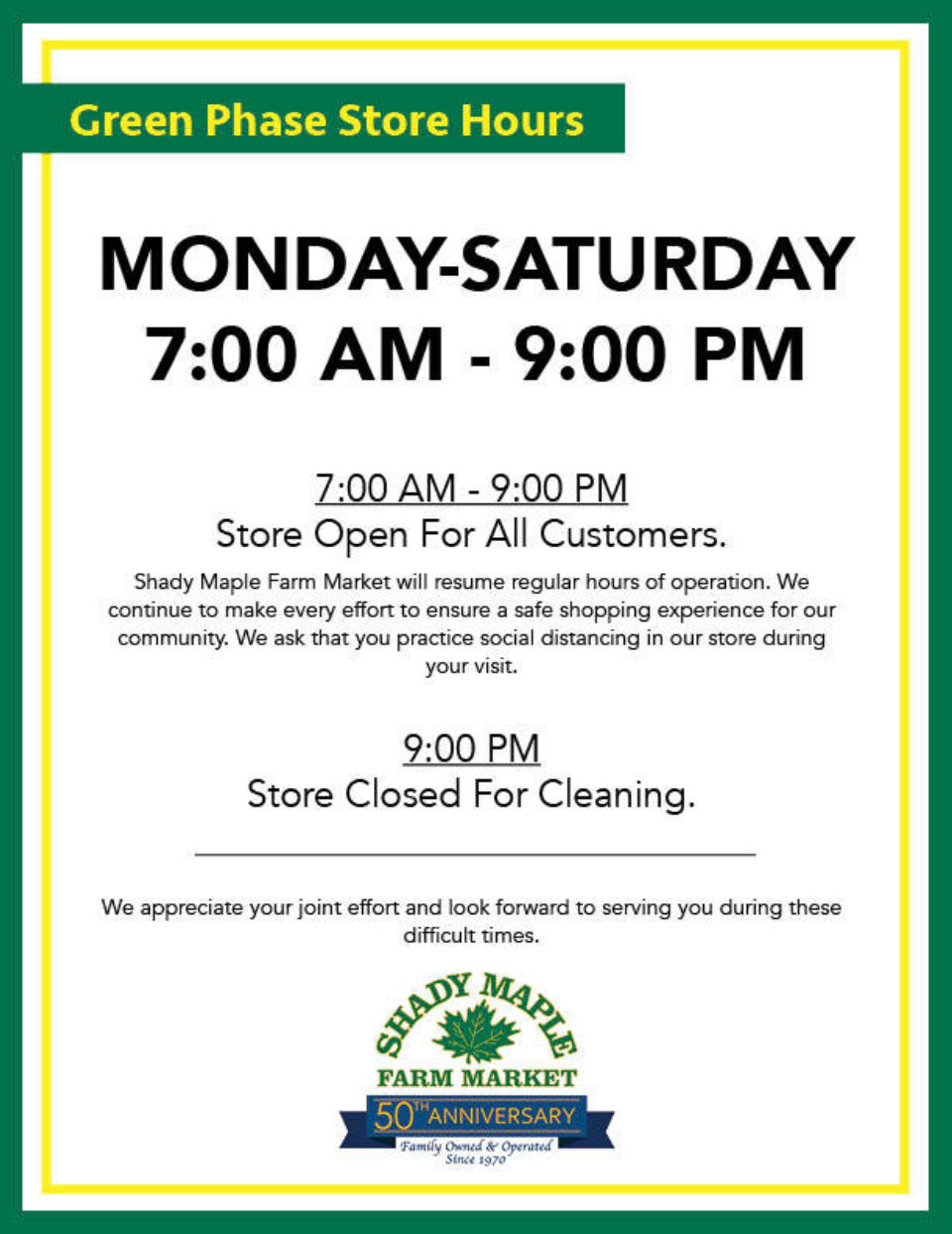 Green Phase Hours