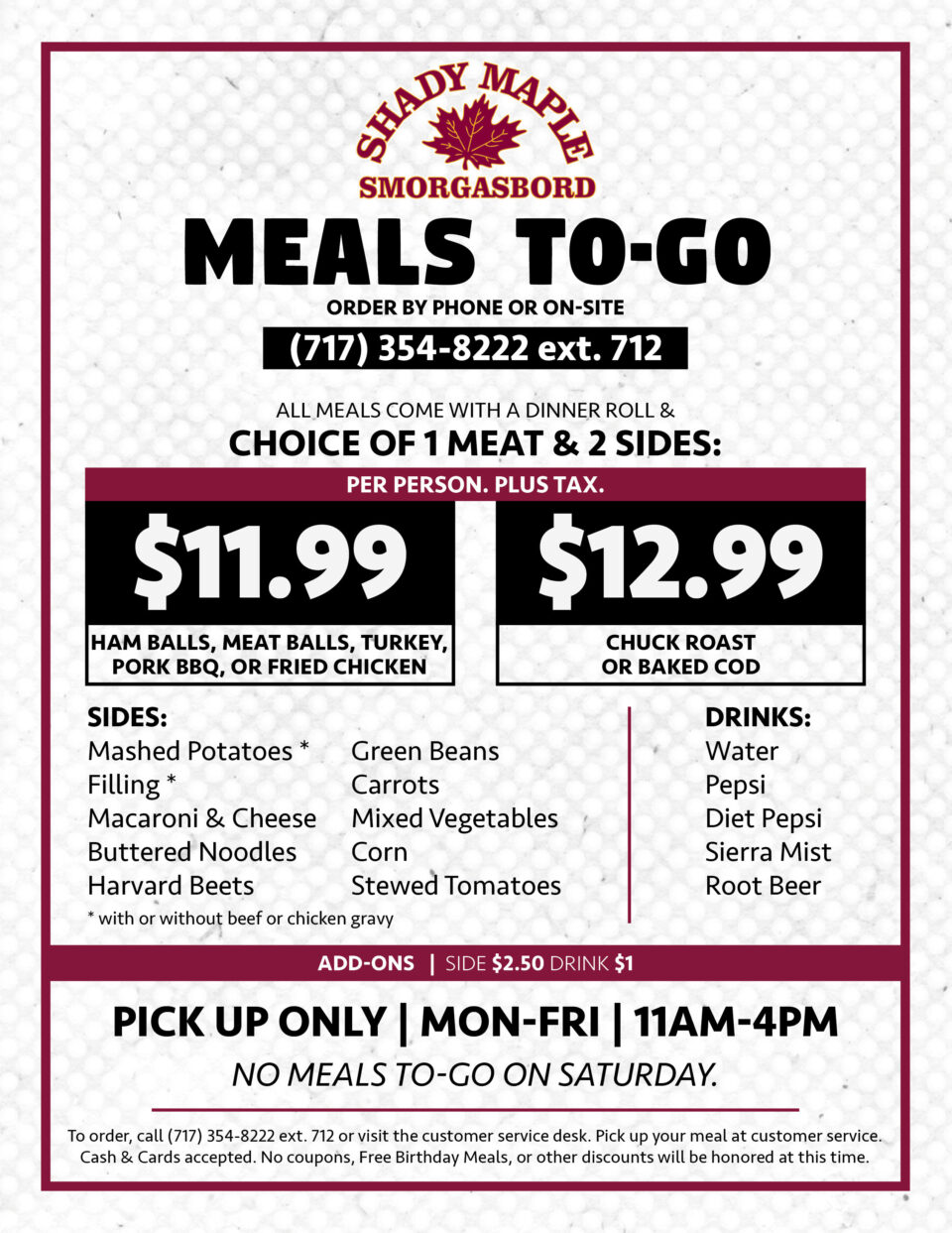 Meals To Go8 5X11